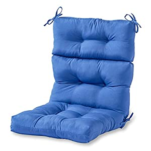 Greendale Home Fashions Indoor/Outdoor High Back Chair Cushion, Marine Blue