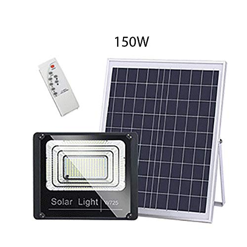 LGFA Light-Sensing Fully Automatic LED Solar Wall Light High-Power 65 Waterproof and Rainproof Lighting Sensor with Remote Control Wall lamp,150Wpower
