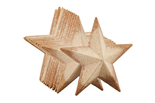 Unfinished Wood Half 3D Stars - 12-Pack Flat 3D Wood Stars, Wood Cutouts, Star Shaped Wood Pieces, for Craft DIY Classroom Projects, Christmas Tree, Party, Home Decoration, 4.5 x 4.5 x 1 Inches]()