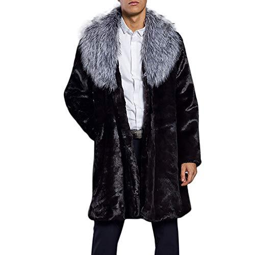Beaded Leopard Clutch - kaifongfu Parka Outwear Cardigan,MensThick Warm Faux Fur Collar Coat Jacket (Silver,M)