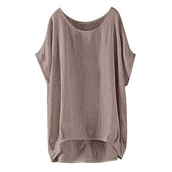 Amazon.com: Aniywn - Blusa de manga corta para mujer, diseño ...