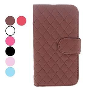 GX Teléfono Móvil Samsung - Carcasas de Cuerpo Completo - Color Sólido/Patrón de Cuadrícula - para Samsung S3 I9300 ( , Black