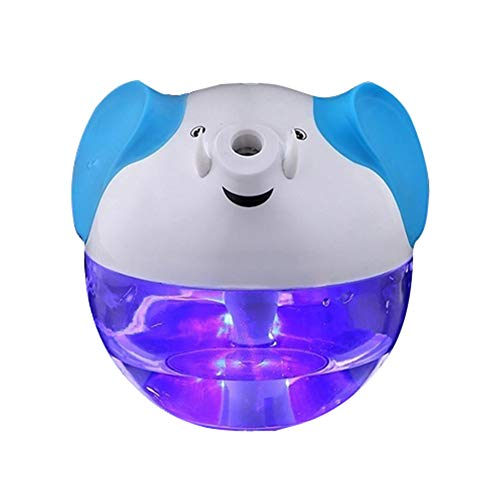 Happy-top 230Ml Lucky Elephant Shape Portable Mini Humidifier Night Lamp USB powered Air Humidifier (White)