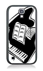Case Cover Design Piano Art PN7 for Samsung S4 Border Rubber Silicone Case Black@pattayamart