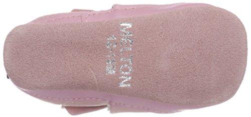 Melton Baby Mädchen Krabbelschuh Maus Aus Weichem Leder Mehrfarbig (Blush Rose)