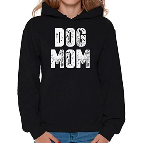 e48d9395029 hot sale 2017 Awkward Styles Women s Dog Mom Hoodie Hooded Sweatshirt Dog  Lover Quote Mom of