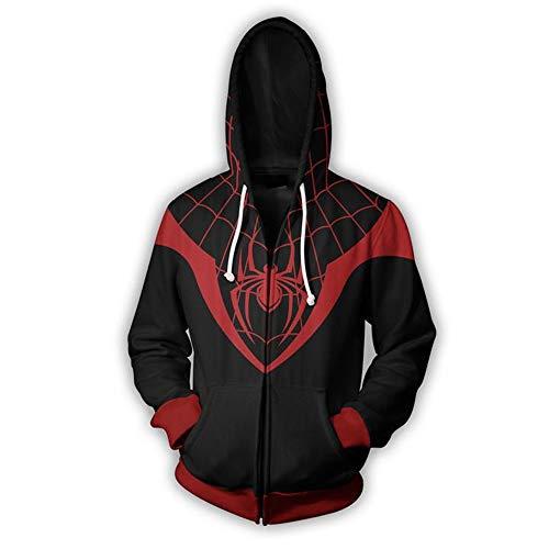 Con Lzh3d De Anime Cremallera Cosplay Impresión Sudaderas Sudadera Béisbol 3xl Camiseta Unisex Capucha S Spiderman 3d HHwqx5Cr