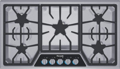 Thermador : SGSX365FS 36 Masterpiece Gas Cooktop Stainless