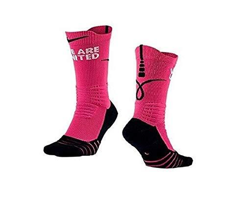 Nike Men's Elite Versatility Kay Yow Crew Basketball Socks Pink/Black SZ 12-15