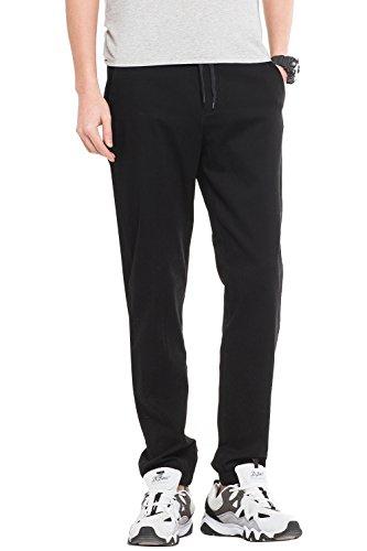 De Multifuncional 16 Casual Slim Jogger Pantalones Elegir Hombre Deporte Colores Para Fit Negro Pantalón Elástico 8g48zWE