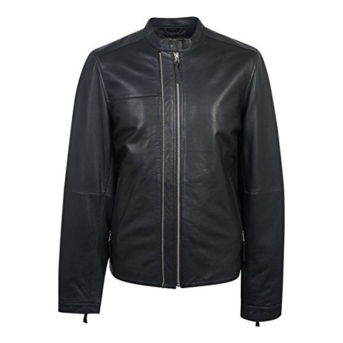 プレティグリーン メンズ ジャケット&ブルゾン Zip Up Leather Biker [並行輸入品] B07D479XSD Large