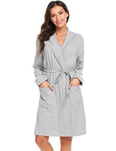 Jersey Knit Bath Robe - 1