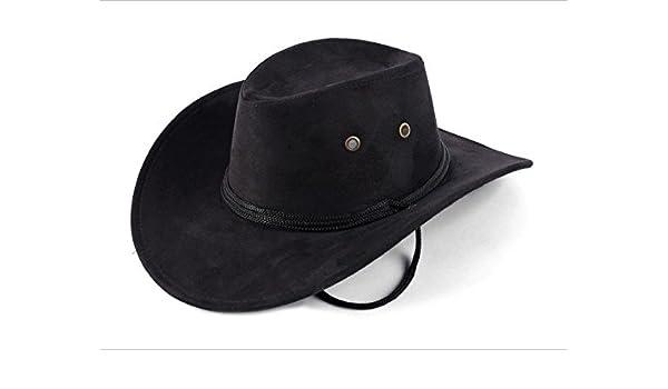 Sombrero Vaquero Hombre Adulto Panama Negro Ante Rancho  Amazon.es   Deportes y aire libre 6b45948182a