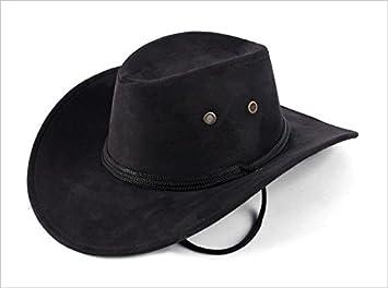 56ac1ebc89 Sombrero Vaquero Hombre Adulto Panama Negro Ante Rancho  Amazon.es   Deportes y aire libre