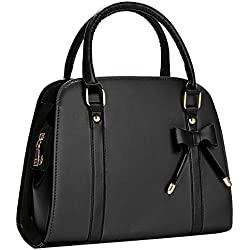 Coofit Lady Handbag Little Bow Leisure Top-Handle Bags Shoulder Bag Purse (Black)