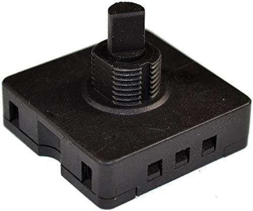 HQRP Rotary Switch 4-Position 3-Speed 120V-250V, 10A Fan Heater Speed Selector + HQRP Coaster