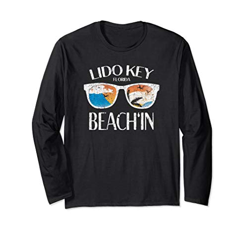 Lido Key Florida Beach Vacation Sunset Long Sleeve T-Shirt ()