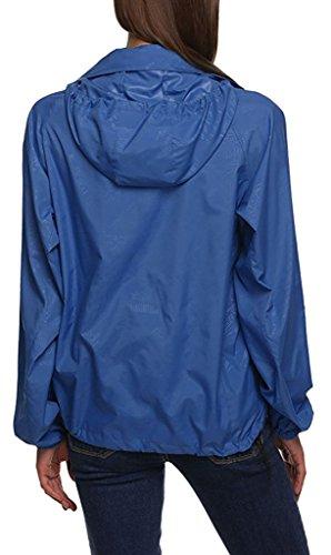 Dry Pelle Blu Donna Con Impermeabili Sawadikaa Windbreaker Super Coat Cappuccio All'aperto Indumenti La Esterna Uv Giacca Proteggere Leggero Scuro Cmpermeabile Quick BqfvHwa