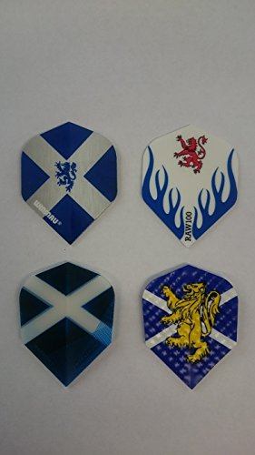 1 x Pack of 4 Sets of Scotland Dart Flights, Standard (4 Sets Dart Flights)