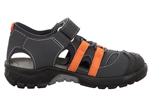 Ricosta 6122000/480 - Zapatillas de estar por casa de Material Sintético para niño gris anthra/teer anthra/teer