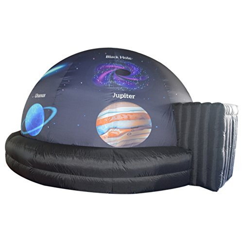 Portable Inflatable Planetarium Dome Tent for Cinema Movie and Kids School Education Equipmen, with Air Blower and PVC Floor Mat(Inner Diameter 5m/16.4ft) (Planetarium Portable)