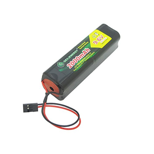 Geilienergy 9.6v 2000mAh Square Futaba NT8S600B Transmiter Battery Pack with Hitec connector for RC Airplanes,Cars,Heli,Sailplanes ()