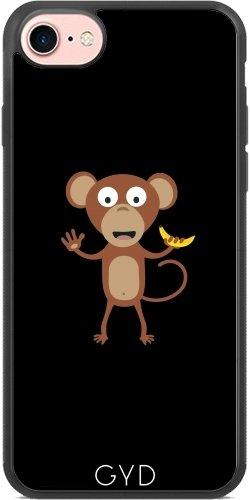 Coque Silicone pour Iphone 7 / Iphone 8 - Singe Avec La Banane by ilovecotton