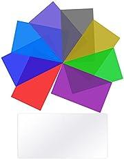 Neewer 8-Paquete Filtros de Color de Iluminación Filtro de Corrección de Color Transparente en 8 Colores Diferentes para Neewer 660 LED Luz de Video, 16.7 x 21.7 cm