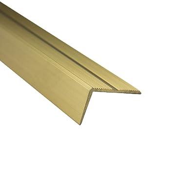 Alu Stufenprofil Fliesenschiene Profil Treppe Schiene gold matt L300cm H10mm silber