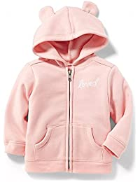 Spring Lovely Pink Fleece Hoodie for 18-24M Baby Girl Included!