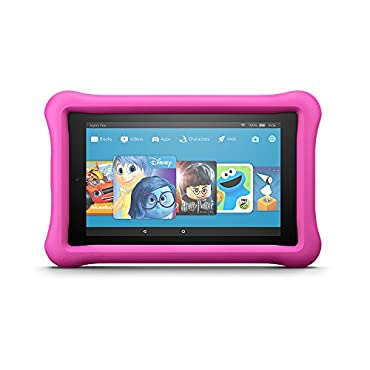 Fire 7 Kids Edition Tablet, 7 Display, 16 GB, (Pink Kid-Proof Case)