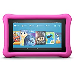 "All-New Fire 7 Kids Edition Tablet, 7"" Display, 16 GB, Pink Kid-Proof Case"