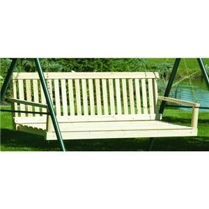 Jack Post H-25 60''W X 22''D X 17.5''H Classic Natural Finish Porch Swing by Jack Post