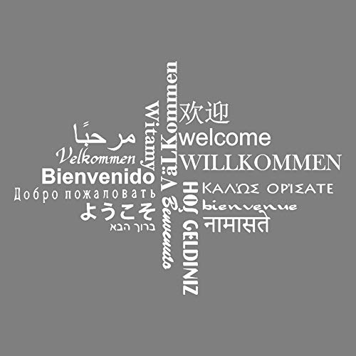 DecalMile Wall Decals Quotes Multilingual