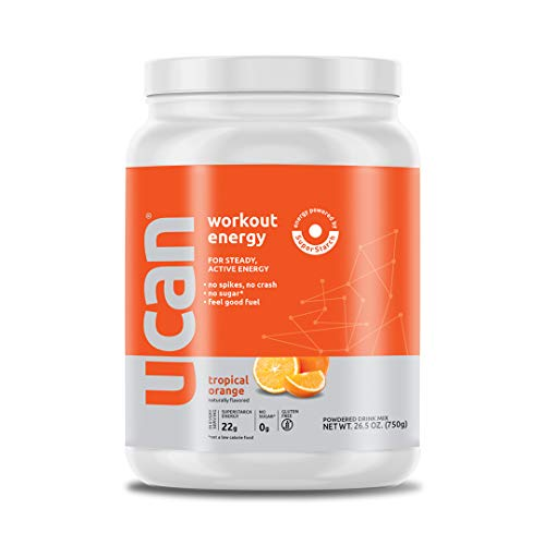 UCAN Workout Energy Powder (Orange, 26.5oz, 30 Servings) – No Added Sugar, Gluten Free, Vegan, Pre- and Post-Workout Drink, Keto Friendly