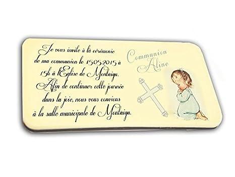 Tarjeta De Invitación En Chocolate Tema Communiant