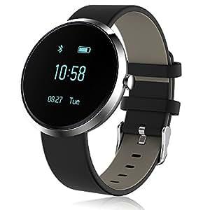 Moobibear Fitness Tracker Smart Watch, Blood Pressure Heart Rate Monitoring,Step motion meter Smart Wristbands, Christmas Birthday Gift for Mom Father Grandma Grandpa Wife Husband