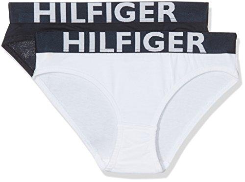 Tommy Hilfiger Mädchen Slip Bikini-Set Blau (White/Navy Blazer) jZnsxEI