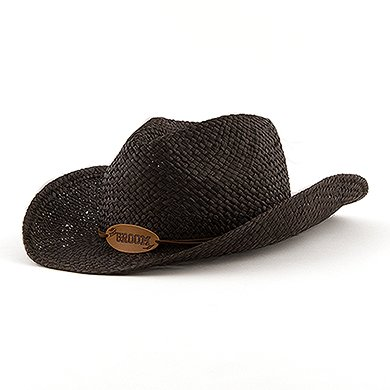 Groom Cowboy Hats - Weddingstar 7133 Black Groom Cowboy Hat
