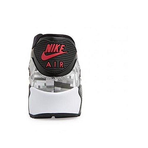 Nike - Zapatillas de deporte Air Max 90 2007 Negro/ rojo (black/gym red)