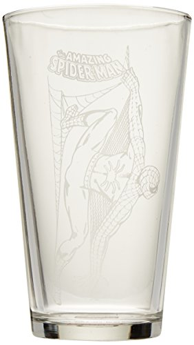The Amazing Spider-Man Hero Logo Etched Pint - Glasses Man Spider Amazing