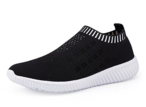 DMGYDAF Women's Lightweight Walking Athletic Shoes Breathable Mesh Sneakers Casual Running Shoes Black 39