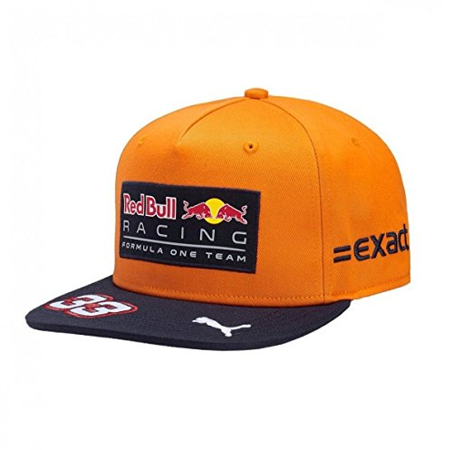 Red Bull Formula 1 Racing 2017 Max Verstappen Special Edition SPA Flat Brim Hat, Orange, One size