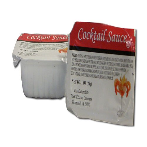 C.F. Sauer Foods Cocktail Sauce, 1 Ounce - 100 per case. by C.F. Sauer Foods