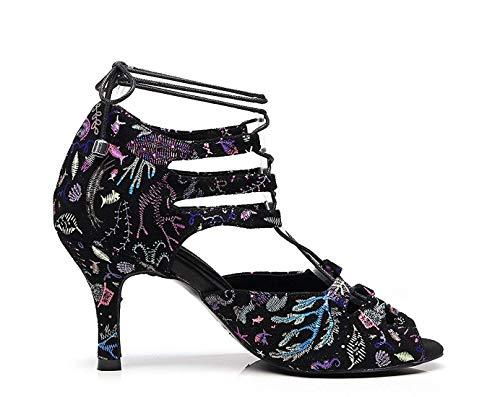 Alto Noche color Bailar Heel Latino Damas 5 Hhgold Uk Tamaño 5 Heel 5cm Black Zapatos Para Diseñador Tacón Con 7 De Cordones Moda 8WnF7WOv