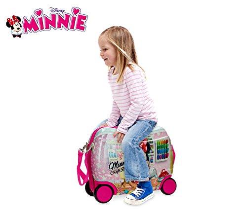 4751051 trolley bagaglio a mano rigido cavalcabile minnie mouse 41 x 34 x 20 cm media wave. Black Bedroom Furniture Sets. Home Design Ideas