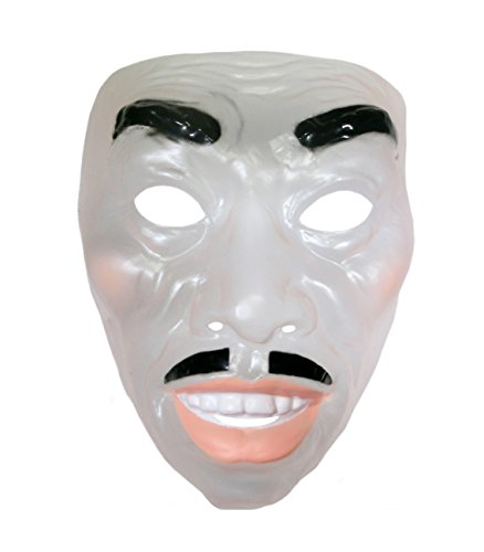 Clear Plastic Halloween Masks (Forum Novelties Mens Transparent Mardi Gras Mask)