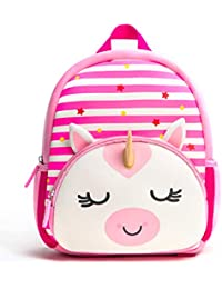 Toddler Backpack, Waterproof Preschool Backpack, 3D Cute Cartoon Neoprene Animal Schoolbag for Kids, Lunch Box Carry Bag for 1-6 Years Boys Girls, Unicorn
