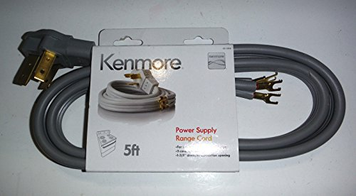 Kenmore 3-prong 5' Round Range Cord (Kenmore Cord)