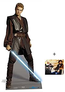 Fan Pack - Anakin Skywalker from Star Wars Lifesize Cardboard Cutout / Standee / Standup- Includes 8x10 Star Photo